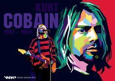 Kurt Cobain, wpap by difrats #art #vector #popart #kurtcobain #cobain #grunge #nirvana #wpap