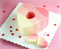 Loving Creations for You: Pink Ombre Stripes Heart Chiffon Cake & Cake pops ...