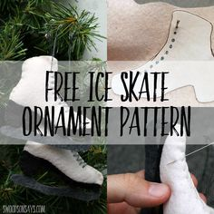 free ice skate ornament sewing pattern