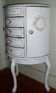 Shabby Chic Jewelry Armoire | Shabby Chic French Armoire Jewelry Box Cottage by PinkPaperRose, $175 ...