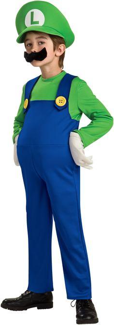 Super Mario Bros. Luigi Deluxe Toddler / Child Costume from CostumeExpress.com