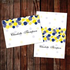 printable name place card ready to edit and print perfect for a blue or yellow wedding view the full beautiful lights collection