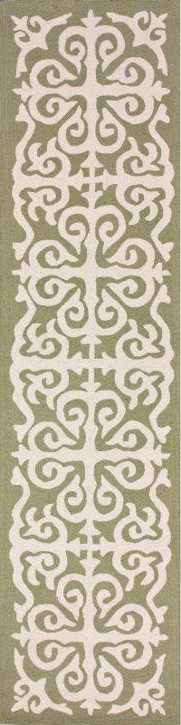 Homespun Damask Trellis Green Rug   Contemporary Rugs