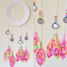 DREAM CATCHER - Recycle old artwork into a beautiful DIY   paper plate + yarn +  sc 1 st  Pinterest & Make these beautiful paper plate dream catchers with your children ...
