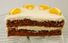 Carrot Cake with Orange Cream Cheese Frosting | Dinner & Dessert