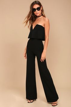 96132924bf9 17 Best Black Strapless Jumpsuit images