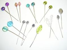 make your own cute stick pin embellishments