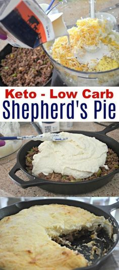 Looking for the best Keto Shepherd's Pie Recipe? This is low carb comfort food at its finest! This keto casserole is perfect for your next family dinner. Keto Shepherd's Pie, Keto Fat, Low Carb Diet, Lower Carb Meals, Keto Lasagna, Ketogenic Recipes, Low Carb Recipes, Diet Recipes, Cooking Recipes