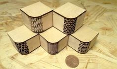 kerf patterns -- use for creating flexible curves on rigid materials