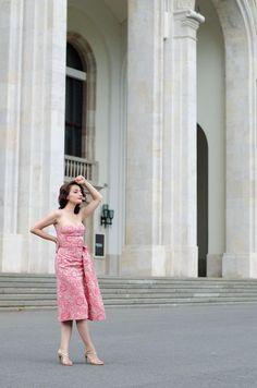 Retro Style * Retro Dress * Retro Hairstyle * Pink Dress * Wedding guest dress * Ludmila Corlateanu Designer   www.cristinafeather.com