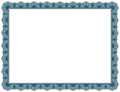 Decorative blue border for creating award certificates. Free downloads available at http://pageborders.org/download/blue-certificate-border/