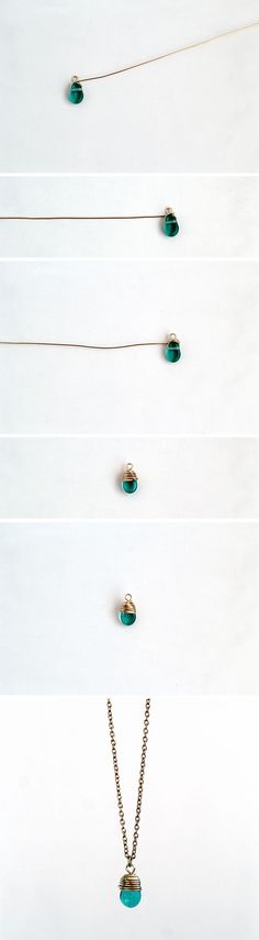 how to wrap a bead to make a beautiful necklace!