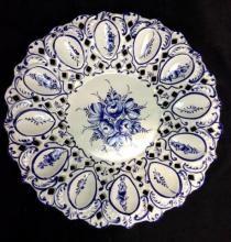 Signed Hand-painted Porcelain Devil Egg Plate