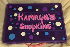 Personalized shopkins storage box by DJCcreations2013 on Etsy
