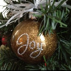 Christmas Tree Decorations Joy Ornament Holiday Home Decor  Joy
