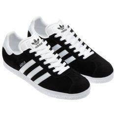 adidas - Gazelle Shoes Black  /  Running White 032622