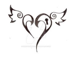 Heart Tattoo Design .:New:. by darkhuntress on DeviantArt
