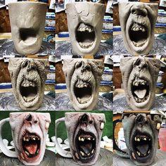 1500870758 - turkeymerck Progress shots of the original Screamer mug from back in 2015 ☠️ #mugshotmonday ------------------------------- #ceramics #walker #pottery #creepy #coffeeaddict #horrorlover #horrorjunkie #horrorfan #skull #twd #stoneware #clay #art #ceramic #horror #coffee #functionalart #horroraddict #monster #undead #thewalkingdead #zombiemug #coffeeaddict #coffeemug #mug #coffeelover #coffeebreak #zombie #zombies #muglife
