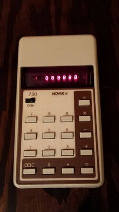 Check out this item in my Etsy shop https://www.etsy.com/listing/237347848/novus-750-calculator-1970s-red-bubble