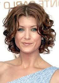 Image result for short curly hairstyles for women thin hair
