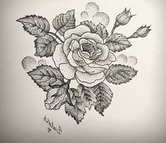 dotwork tattoo ROSE - Pesquisa Google