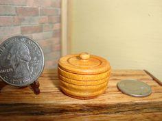 "Dollhouse Miniature 1:12 Cookware & Tableware Canister  OOAK by ""Oppi"" #HO7  #HandcraftedMiniaturesbyOppi"