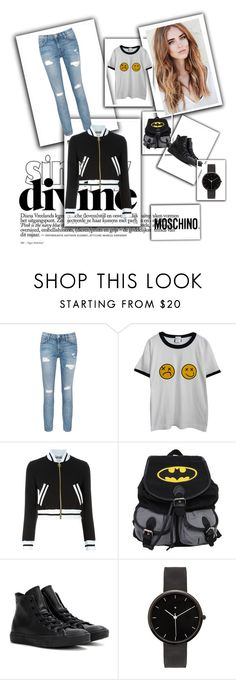 """moschino"" by b-maya ❤ liked on Polyvore featuring Current/Elliott, Chicnova Fashion, Moschino, Converse and I Love Ugly"