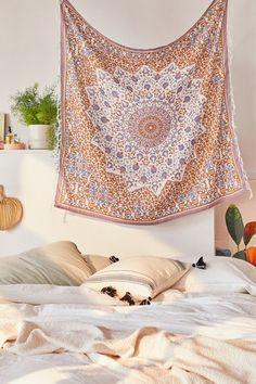 Shop Jade Medallion Tapestry at Urban Outfitters today. Urban Outfitters Room, Urban Outfitters Tapestry, Cheap Bedroom Furniture, Bedroom Decor, Bedroom Ideas, Bedroom Inspo, Wall Decor, Girl Room, Girls Bedroom
