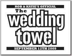 ha! Steelers inspired wedding gifts. LOVE.