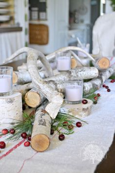 rustic centerpiece for christmas