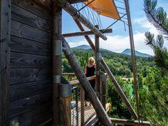 vue panoramique cabane huttopia dieulefit drome