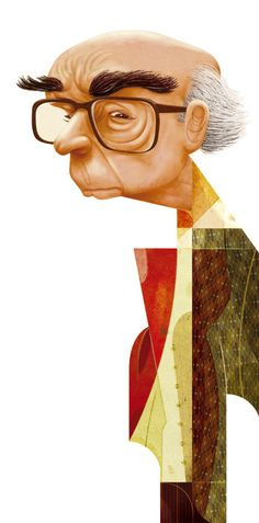 José Saramago 90 Years - Goncalo Viana Illustration