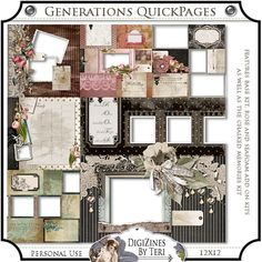 Family Records Generations Quick Page Pack is the only kit that is not included in the Bundle offer for this Collection, so I would recommend buying this kit to complement your scrapbooking project. Sale: $4.24