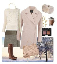 """Boyfriend coat"" by amyjen70 ❤ liked on Polyvore featuring Baxton Studio, Alice + Olivia, Tory Burch, Y.A.S, Dolce&Gabbana, NARS Cosmetics, Alexander McQueen, UGG Australia, Rebecca Minkoff and Vera Bradley"