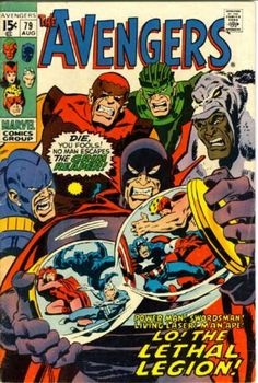 Avengers 79 - Lethal Legion - Swordsman - Captain America - Fools - Grim Reaper - John Buscema