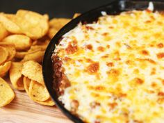 Everybody's favorite gameday sandwich gets a makeover in this melt-in-your-mouth fundido dip. With both ground meat and ground pork sausage, this easy appetizer is not for the faint of heart. Meat Appetizers, Appetizer Dips, Appetizers For Party, Appetizer Recipes, Party Nibbles, Dip Recipes, Beef Recipes, Snack Recipes, Cooking Recipes