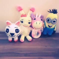 Sevimli mi sevimli cingiraklarimiz#amigurumi #orgusevenler #organikoyuncak #sevimli #oyincak #amigurumi #amigurumis#ormecingirak#amigurumis #inek#cingirak#minion #tavsancik #pisipisi #dolguoyuncaklar #toys#orme #elemegi #elisi #toy#children #hediye #musterimemnuniyeti #organikoyuncak #organic#siparisalinir #handmade #crochet #cingirak #inek #elemegi by yoshynin_orgudunyasi