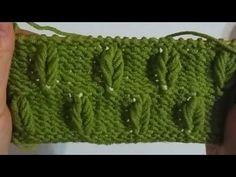 Kiraz Yaprağı Örgü Modeli - YouTube