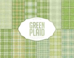 "#Green #Plaid #Digital Paper: ""Green Plaid"" instant download st. patrick's…"