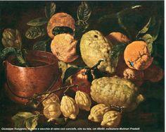 Ruoppolo, Giuseppe Ruoppolo (Napoli 1630? - 1710) Agrumi e secchia di rame con carciofo 1665-1675 circa olio su ti.jpg (967×768)