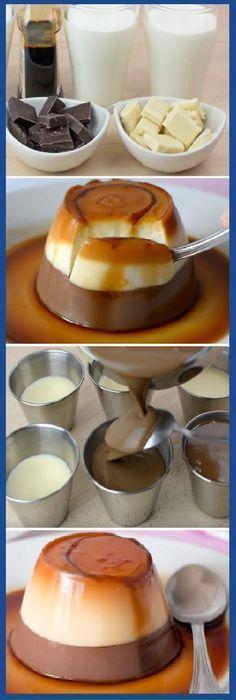 Que pinta tiene por favor!!!!! Lo Mejor FLAN de DOS Chocolates del mundo. #flan #doschocolates #flanes #pudding #pudin #cheesecake #postres #dulces #tips #cake #pan #panfrances #panettone #panes #pantone #pan #recetas #recipe #casero #torta #tartas #pastel #nestlecocina #bizcocho #bizcochuelo #tasty #cocina #chocolate Si te gusta dinos HOLA y dale a Me Gusta MIREN …