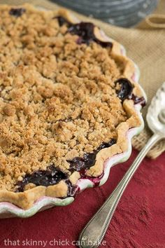 Razzleberry Pie | Raspberry, Blackberry and Blueberry Pie with a crumb topping