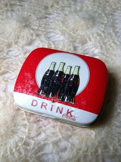 Coca-Cola Mint/Pill Tin..I have a small collection of random little tins. I love them.