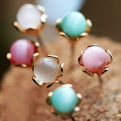 Fashion Color Balls Earrings (Set of 6 pcs) | LilyFair Jewelry, $15.99!