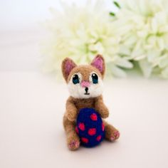 Needle felted brown bunny rabbit Miniature felted by CraftsByKeri, $20.00