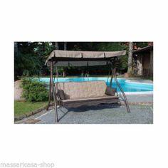 dondolo ZANZIBAR 3 posti + LETTO COLOR RUGGINE TESSUTO ECRU' http://stores.ebay.it/massaricasa-shop