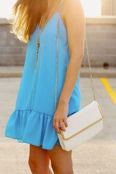 Vestido Azul Ciano