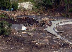 Plus d'une trentaine de maisons ont été emportées par les glissements de terrain.