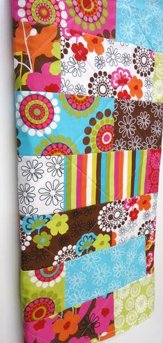 Modern Baby Girl Quilt Shadow Flower Quilt by NowandThenQuilts