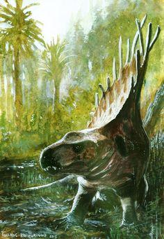 Permian, Dimetrodon limbatus by Tuomas Koivurinne